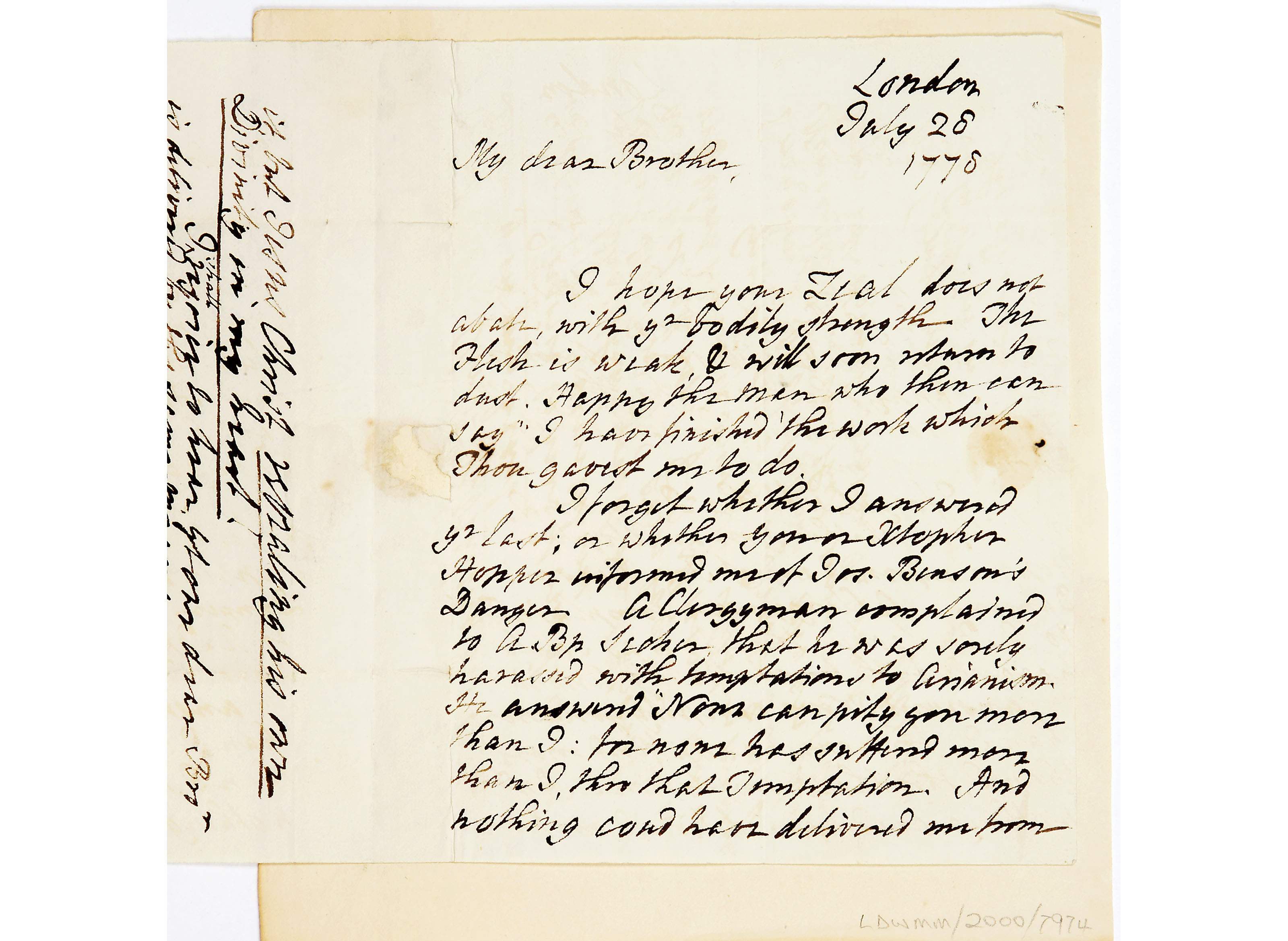 Letter from Charles Wesley