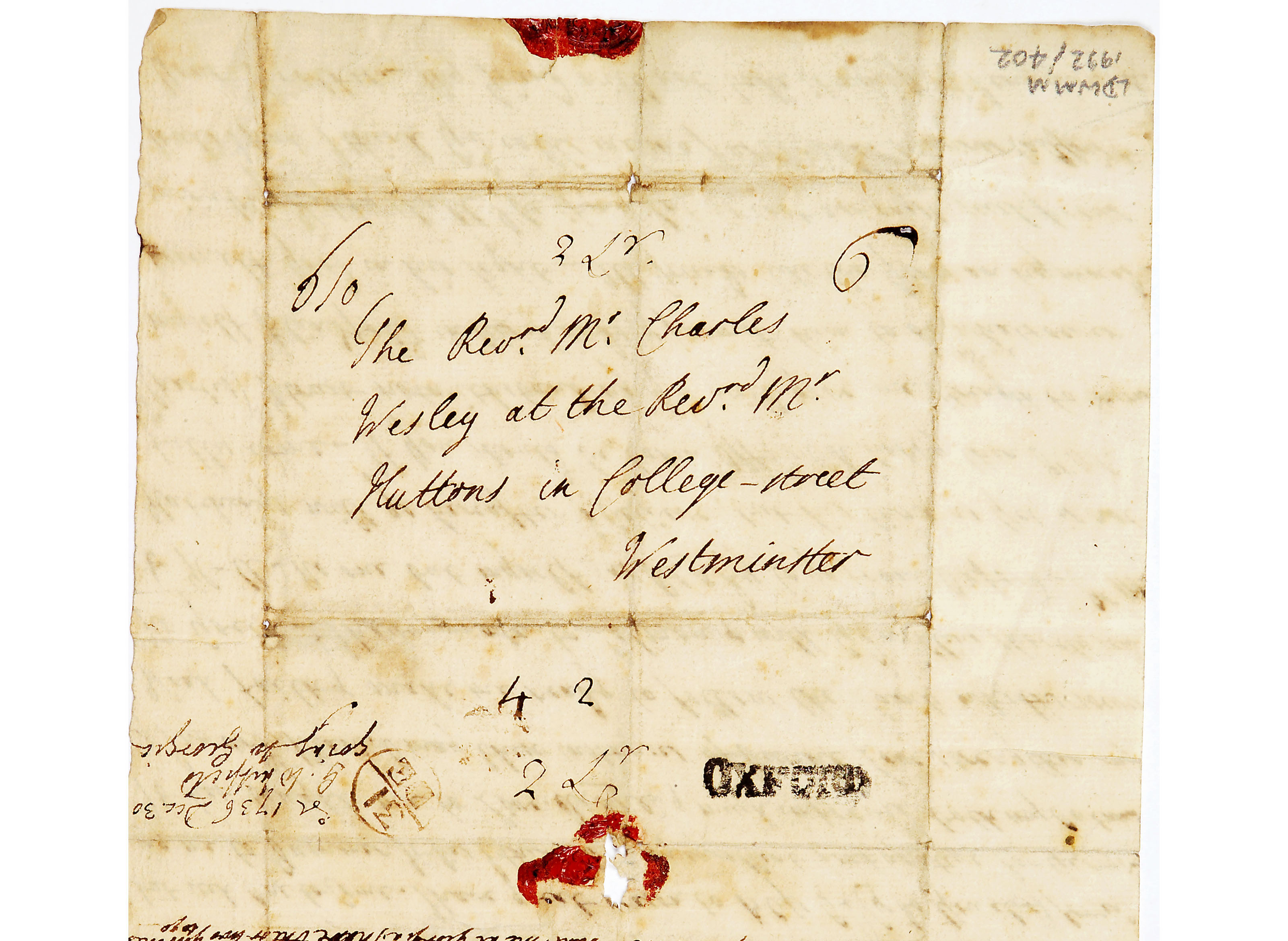 Letter from George Whitfield to Charles Wesley