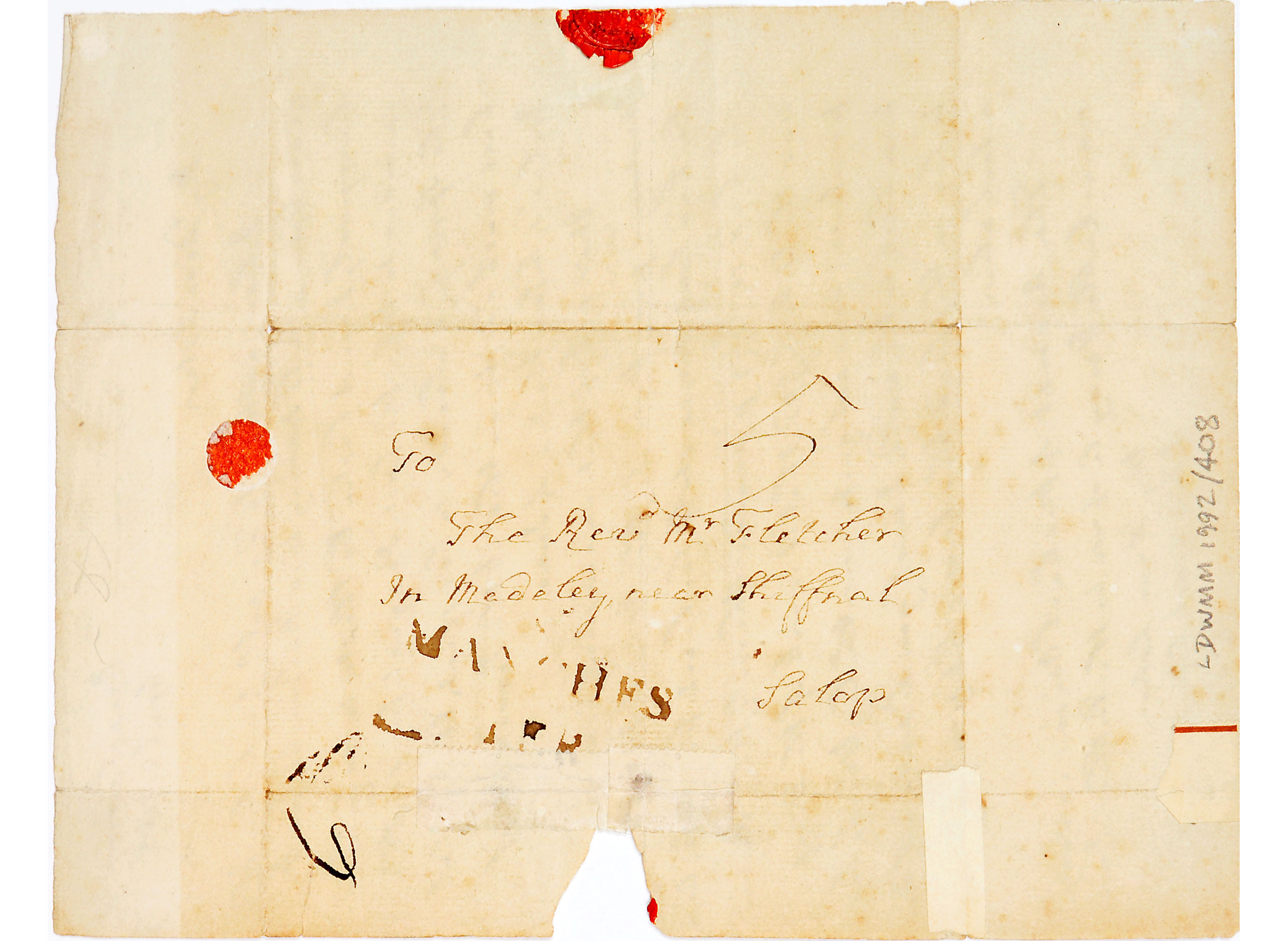 Letter from John Wesley to Mrs Mary Fletcher