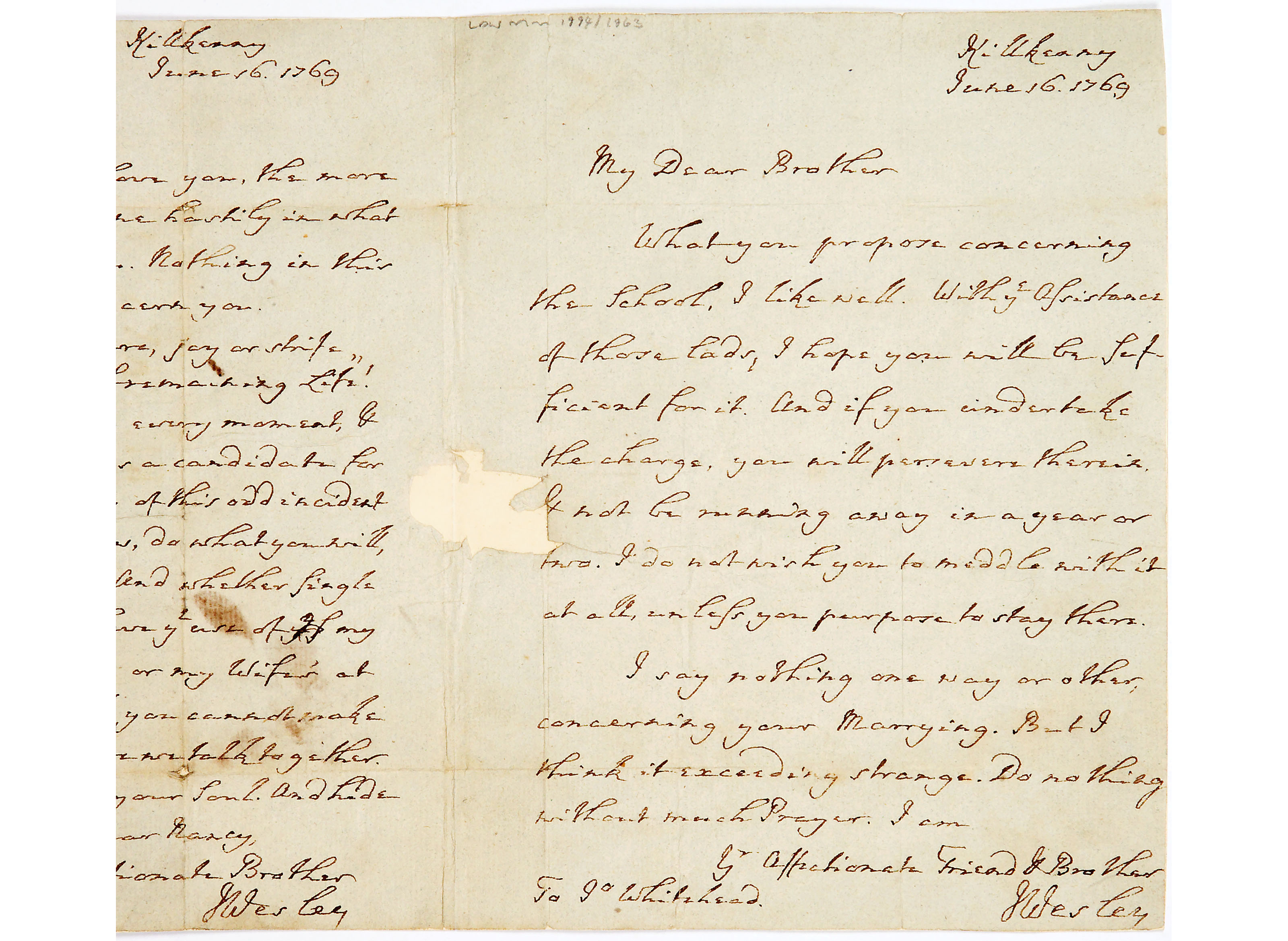Letter from John Wesley to Mrs Ann Smith