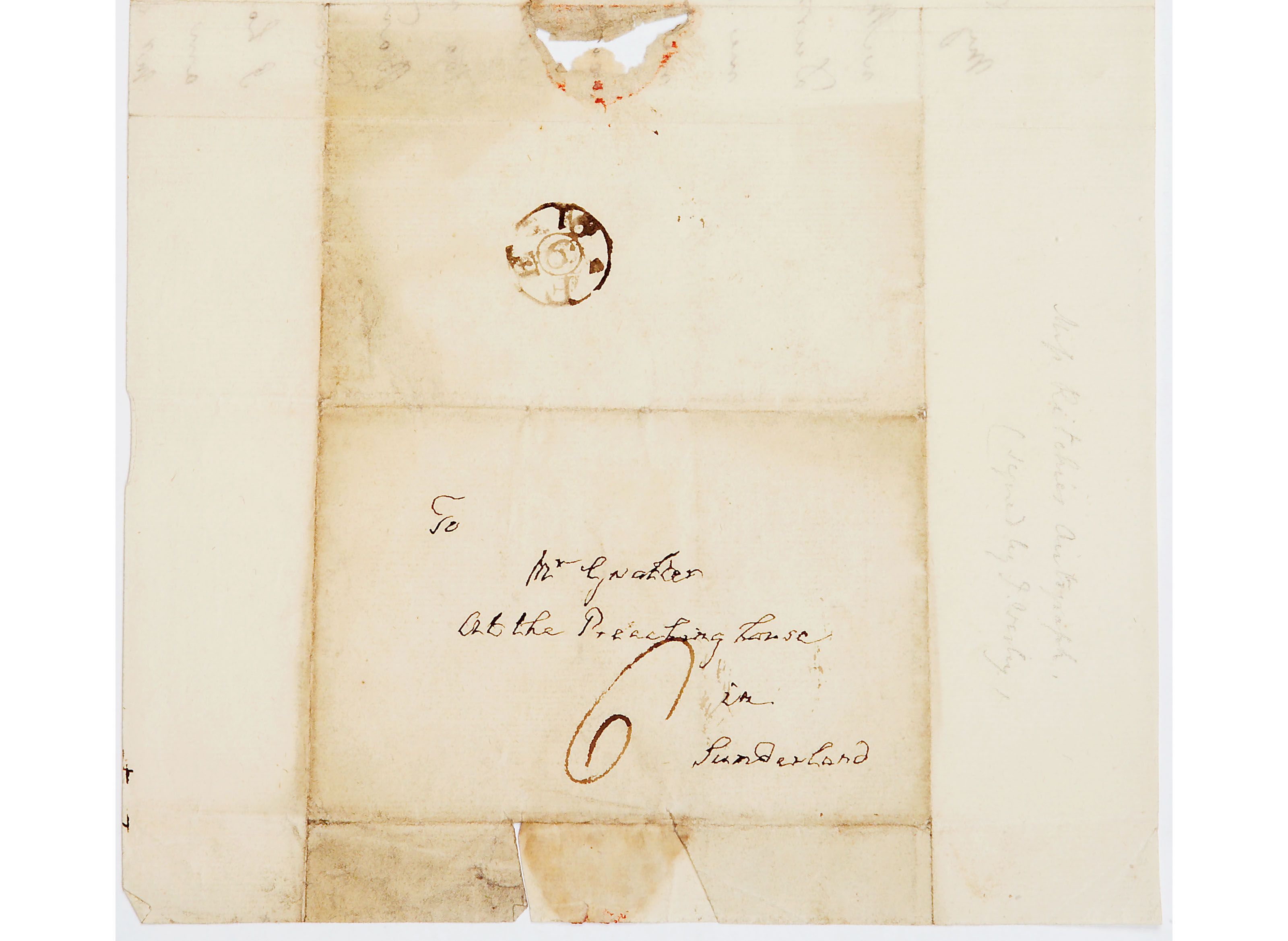 Letter from John Wesley to Mr Gaulter (Dodsworth Bequest)